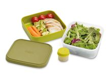 GoEat Compact 3-in-1 Salad Box Green