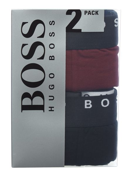 Hugo Boss 2 pack solid cyclist boxerbrief