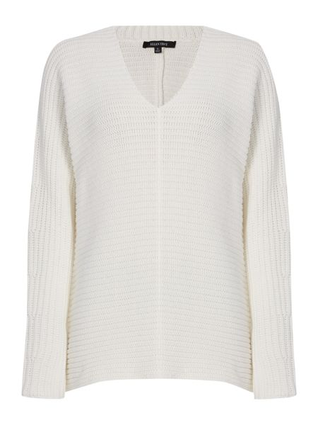 Ellen Tracy Deep v-neck knitted tunic