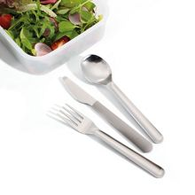 GoEat Compact Stainless-Steel Cutlery Set Grey