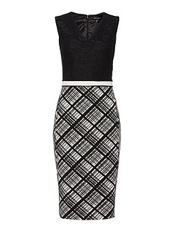 Bonded lace fitted dress