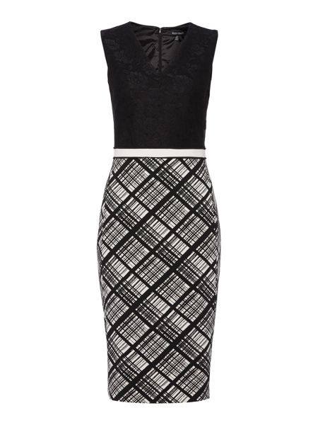 Ellen Tracy Bonded lace fitted dress