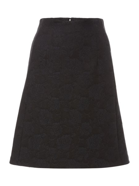 Ellen Tracy Bonded lace a line skirt