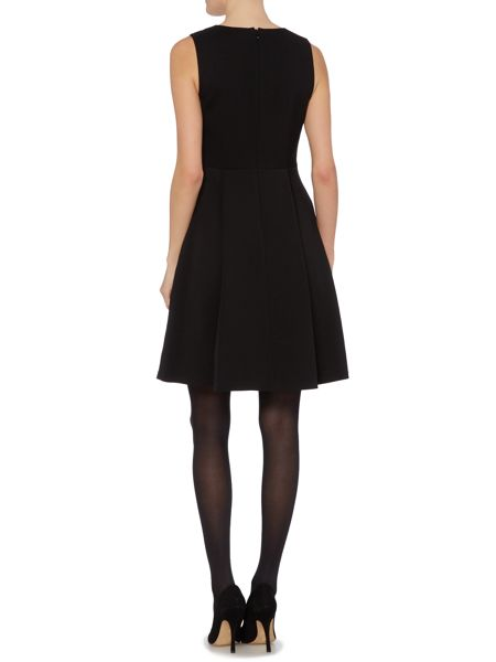 Ellen Tracy Elegant twill fit and flare dress