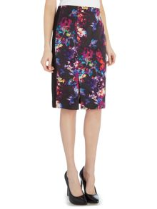 Ellen Tracy Satin georgette skirt