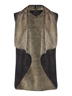 Shearling style gilet