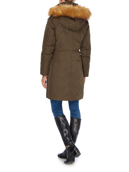 Andrew Marc Long padded coat with matte finish