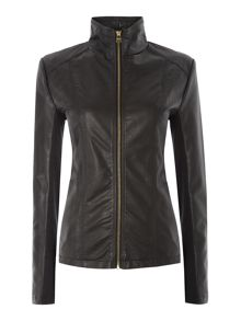 Andrew Marc PU jacket with central zip