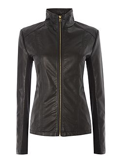 PU jacket with central zip