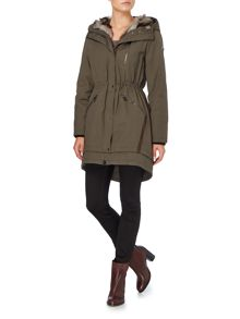 Hooded parka style coat