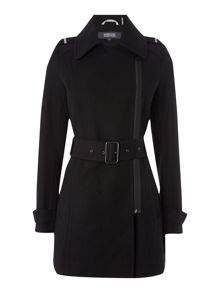 Kenneth Cole Belted wool coat