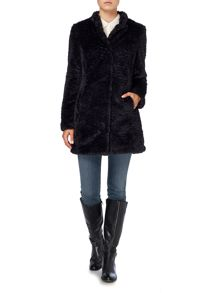 Lightweight faux fur coat