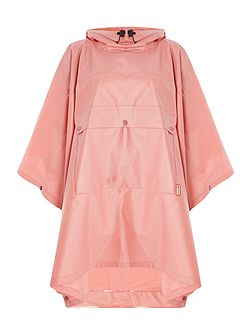 Matte vinyl poncho with front pocket