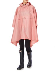Hunter Matte vinyl poncho with front pocket