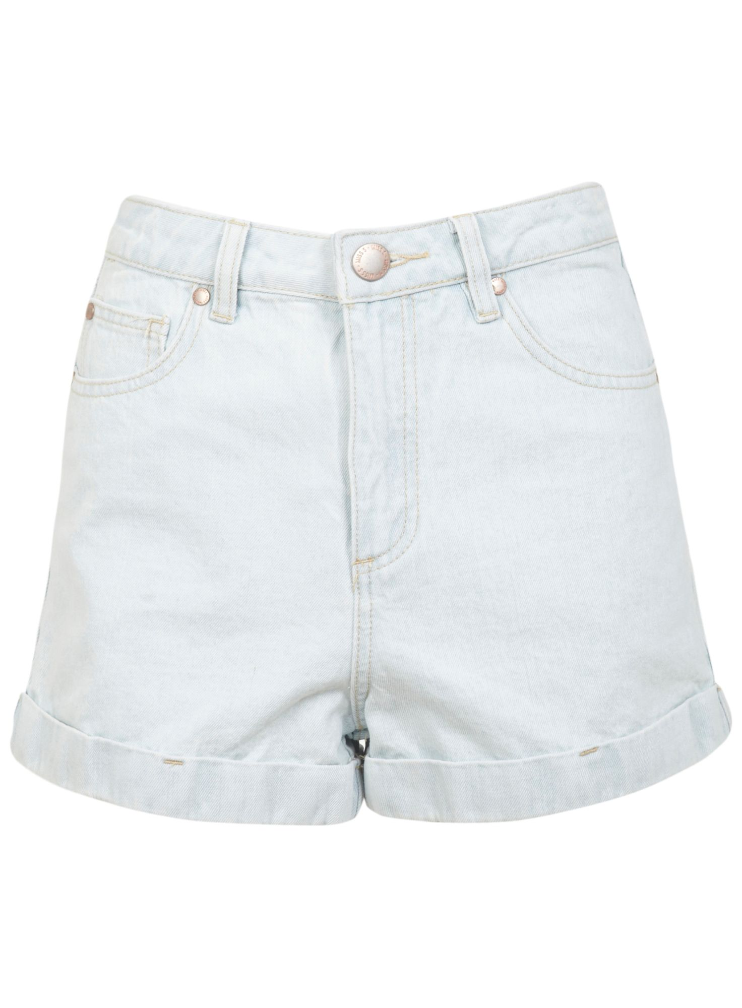 Bleach high waist denim short