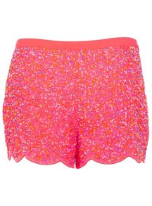 Coral embellished short
