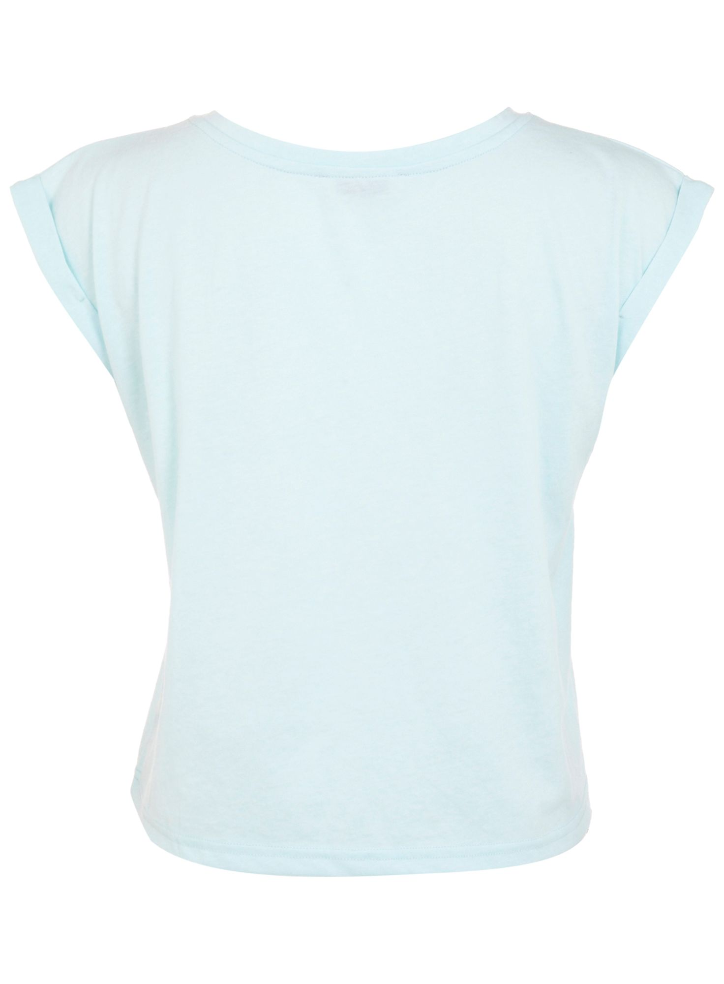 Roll cuff crop t-shirt