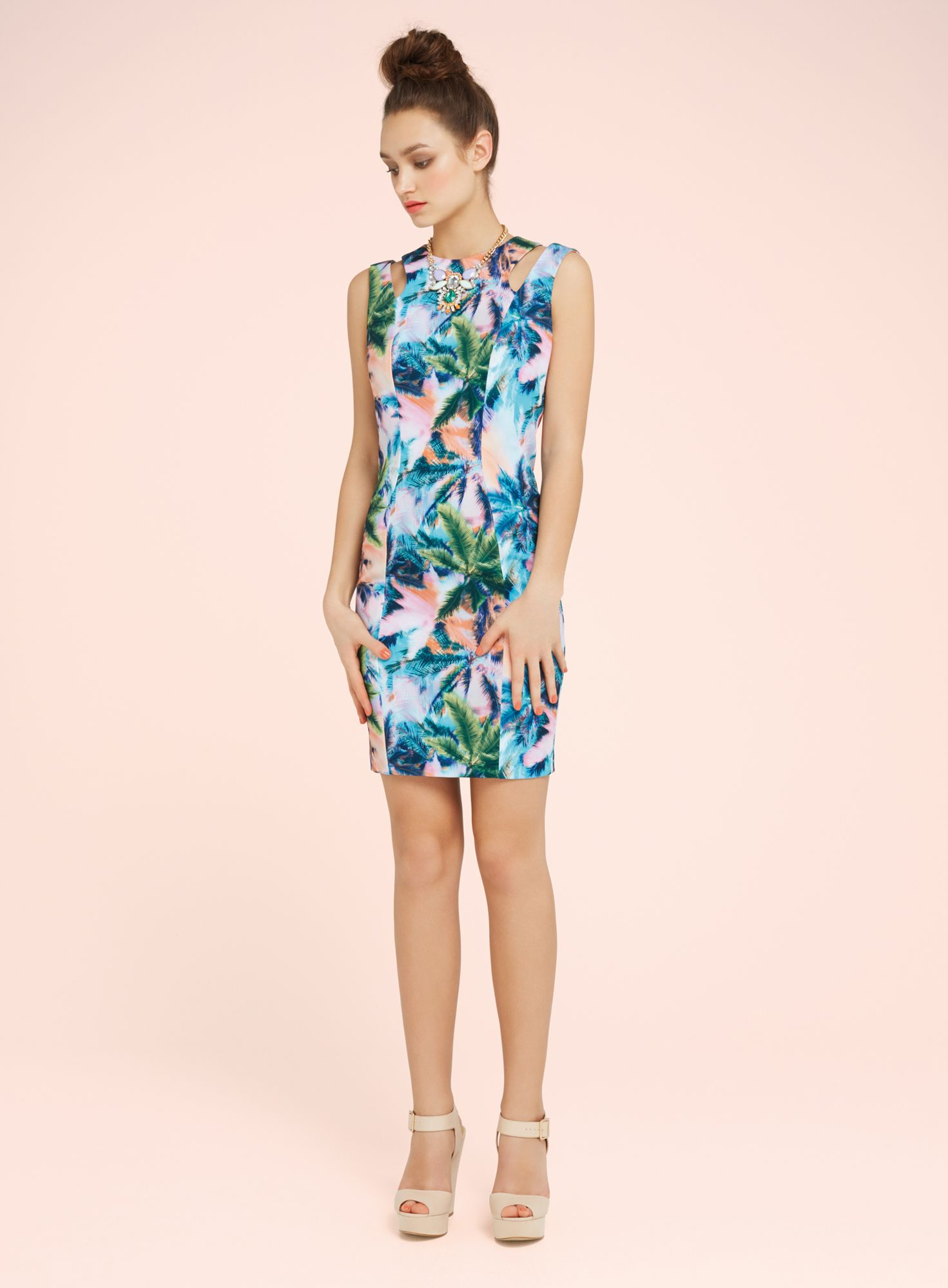Miami print bodycon dress