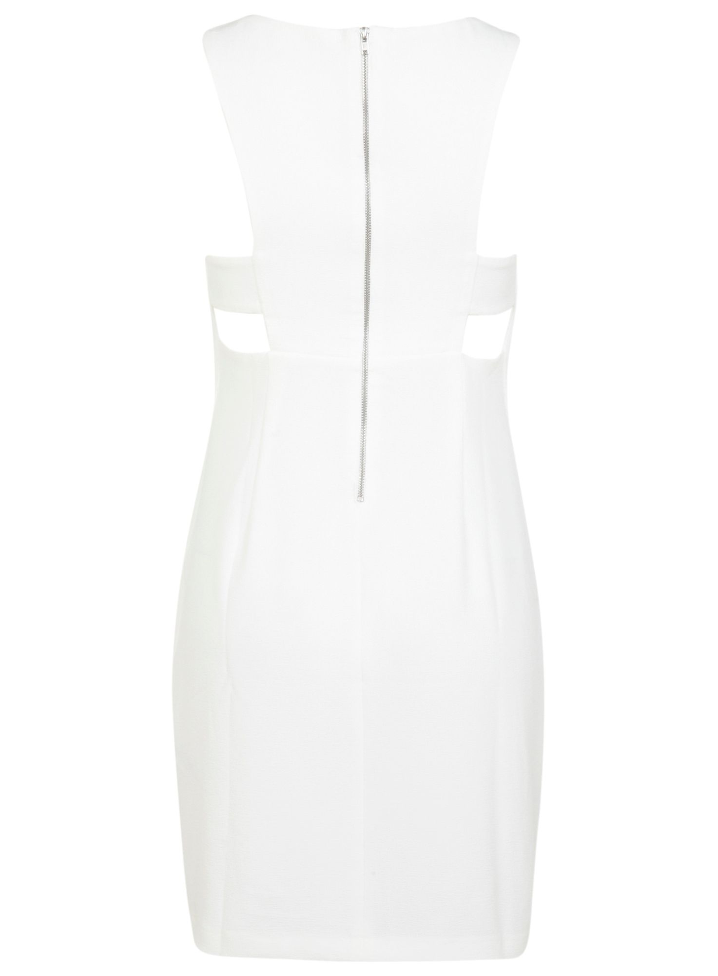 Petites ivory cutout dress