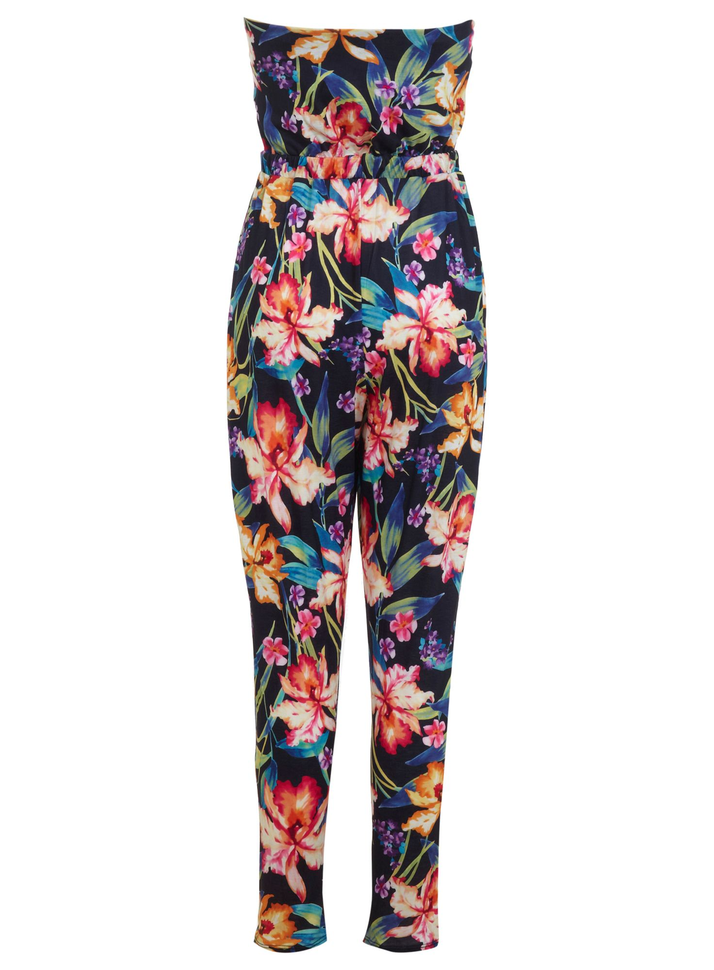 Tropical straight leg jumpsuit