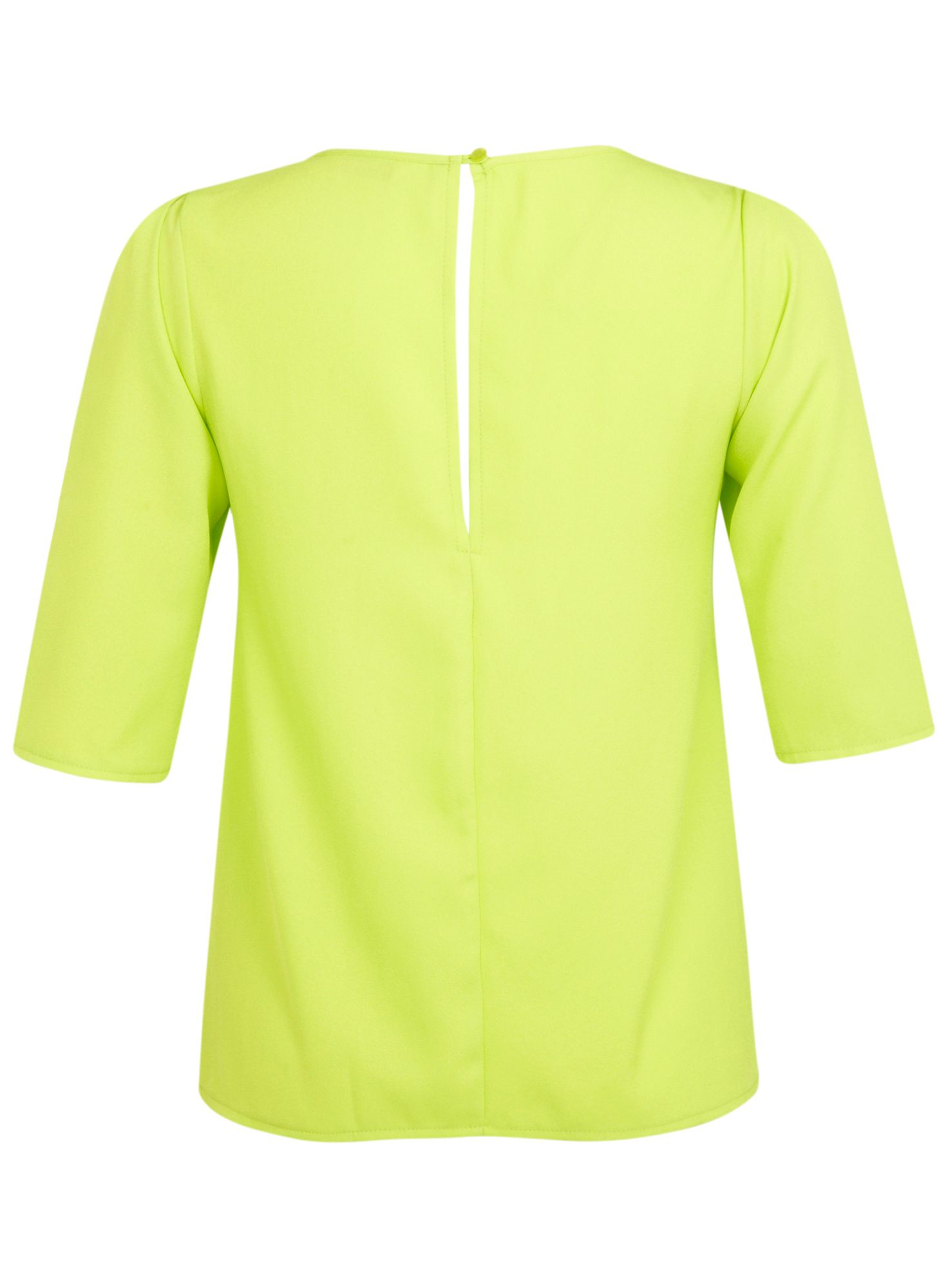 Lime necklace trim top