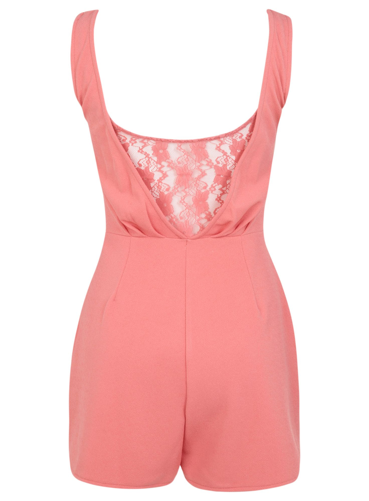 Petites lace back playsuit