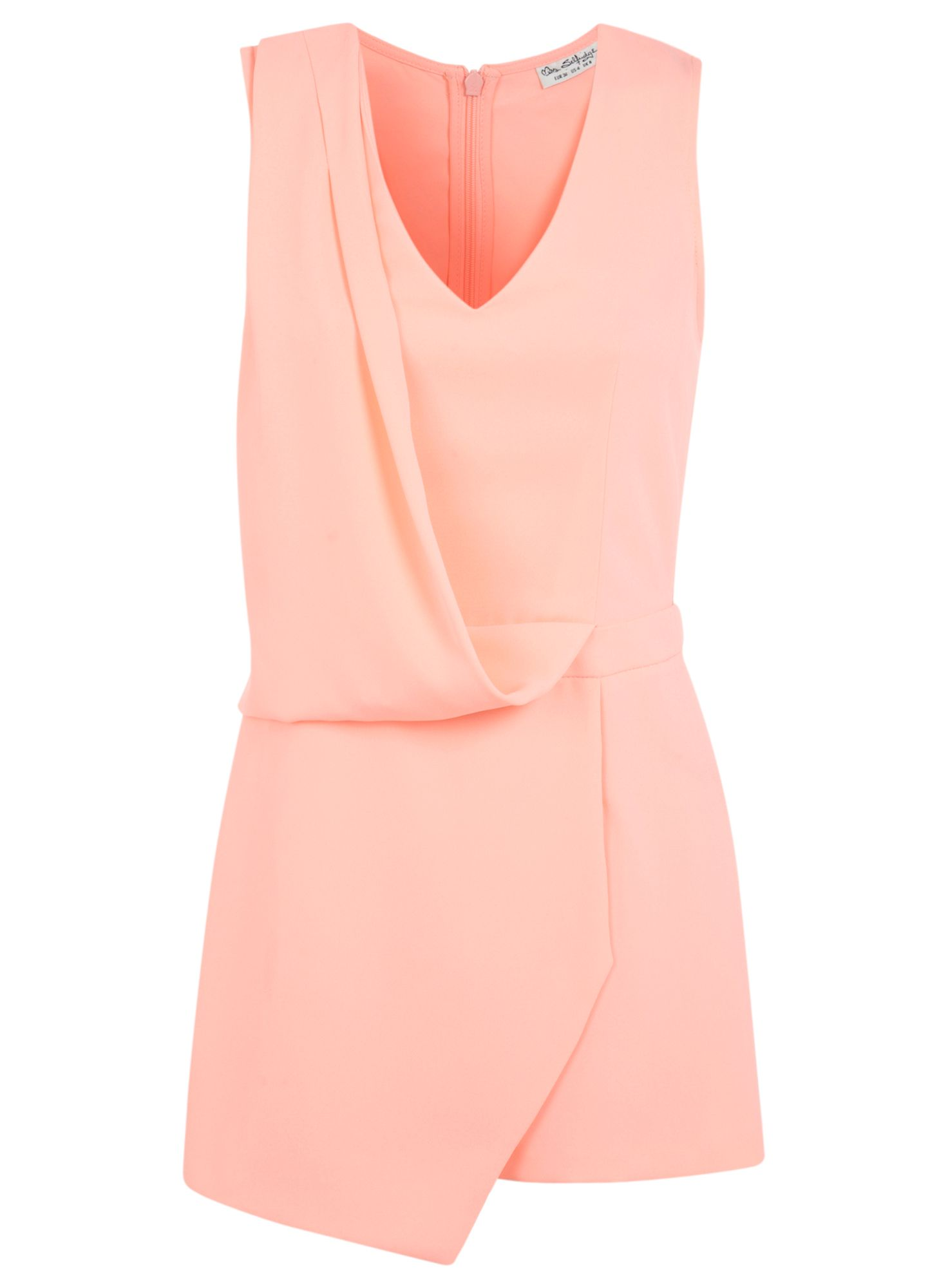 Peach drape playsuit