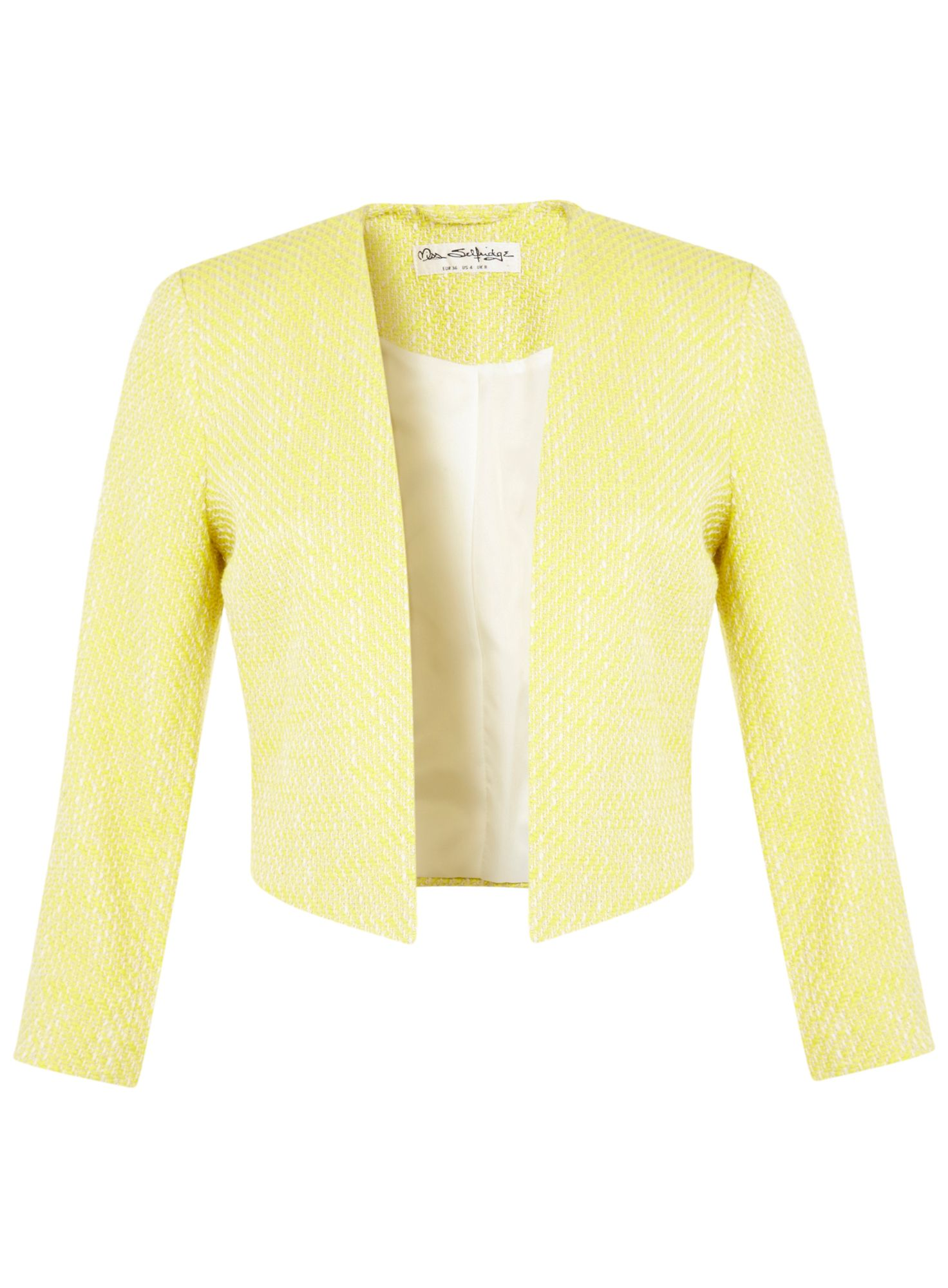 Yellow boucle jacket