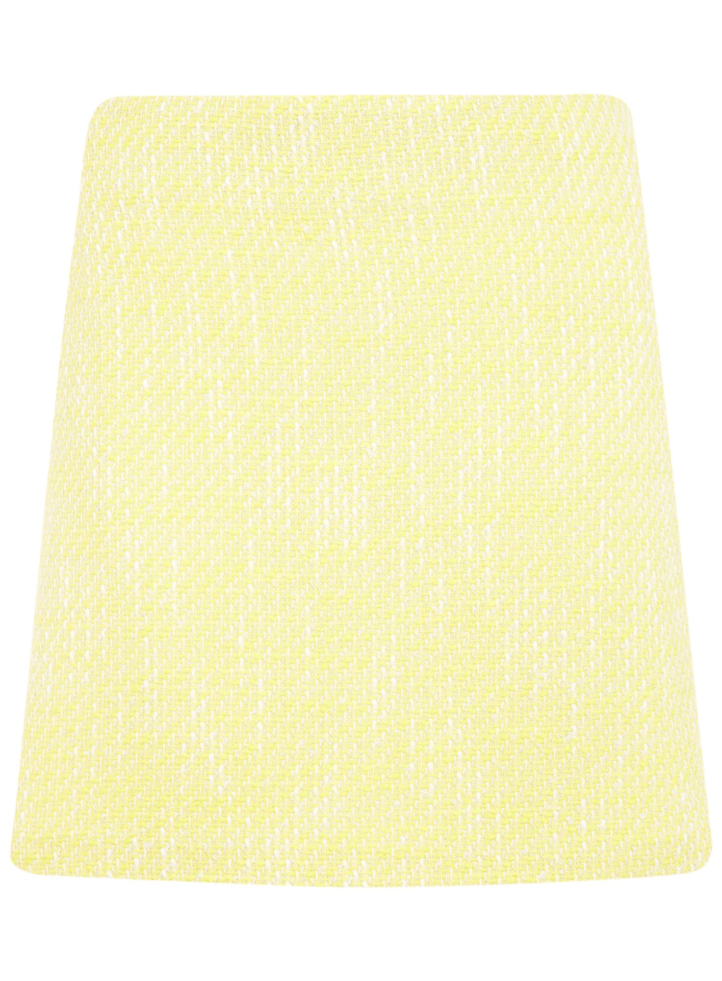 Yellow boucle skirt