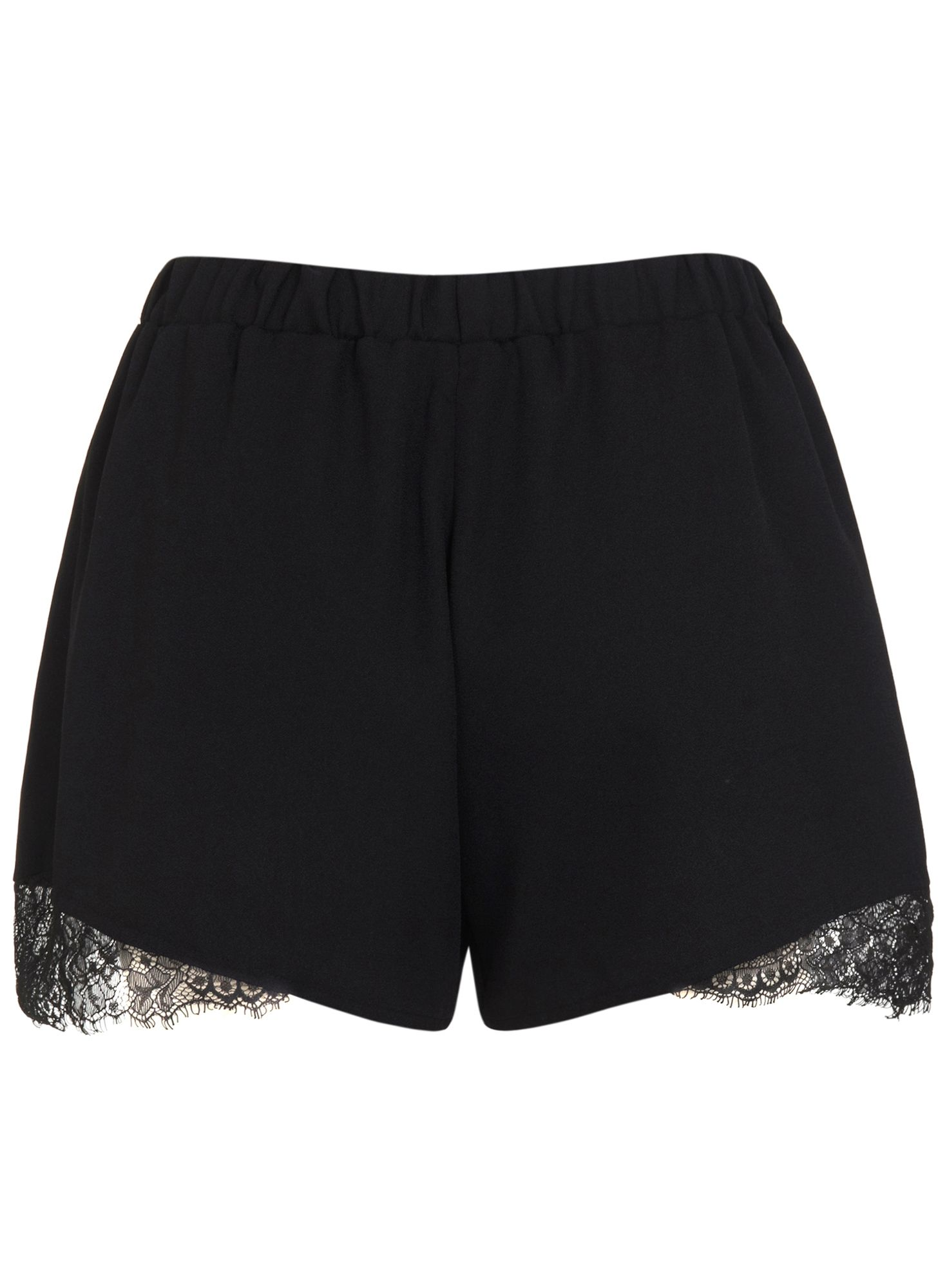Lace black insert short