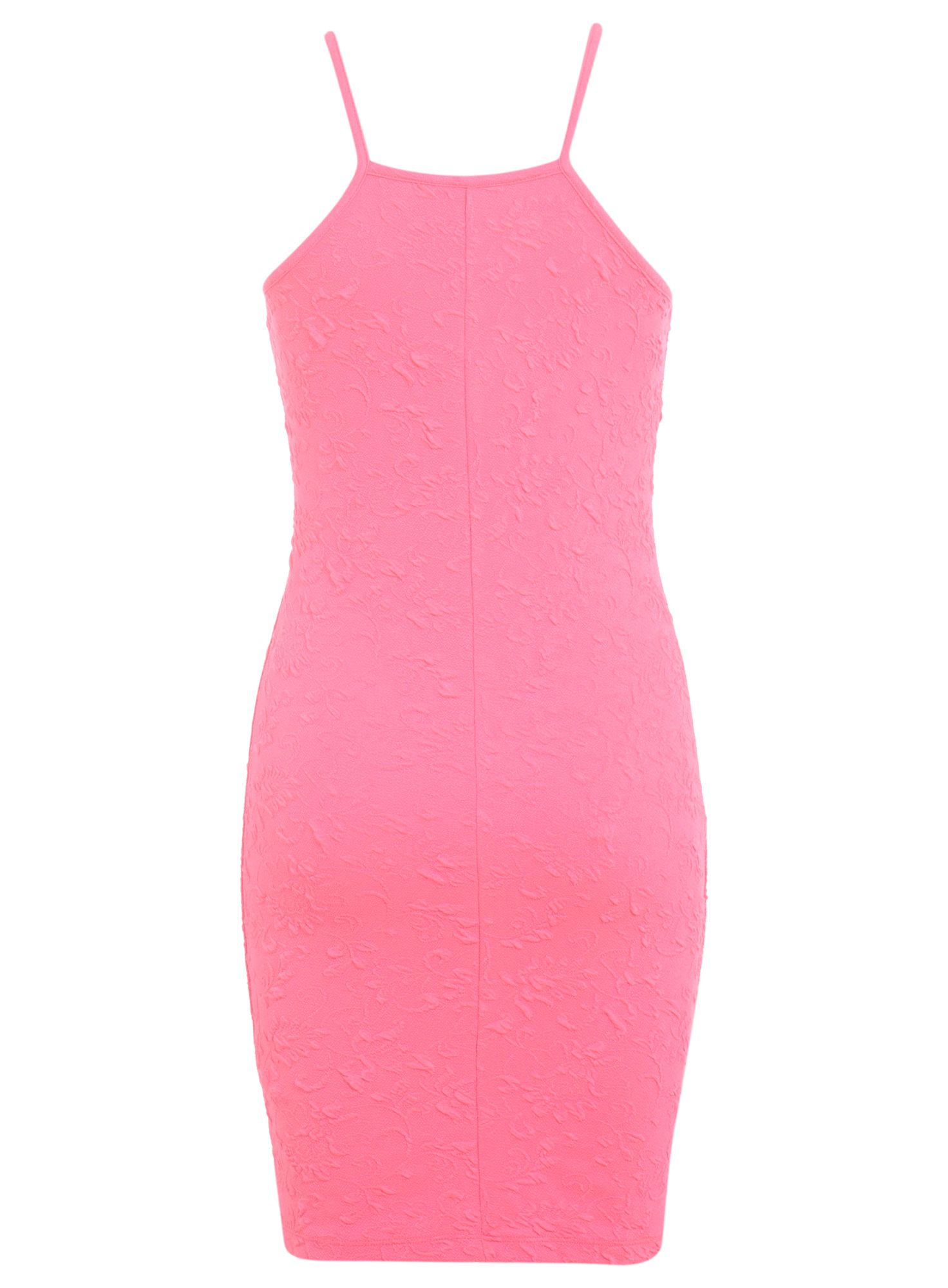 Petites pink 90s bodycon dress
