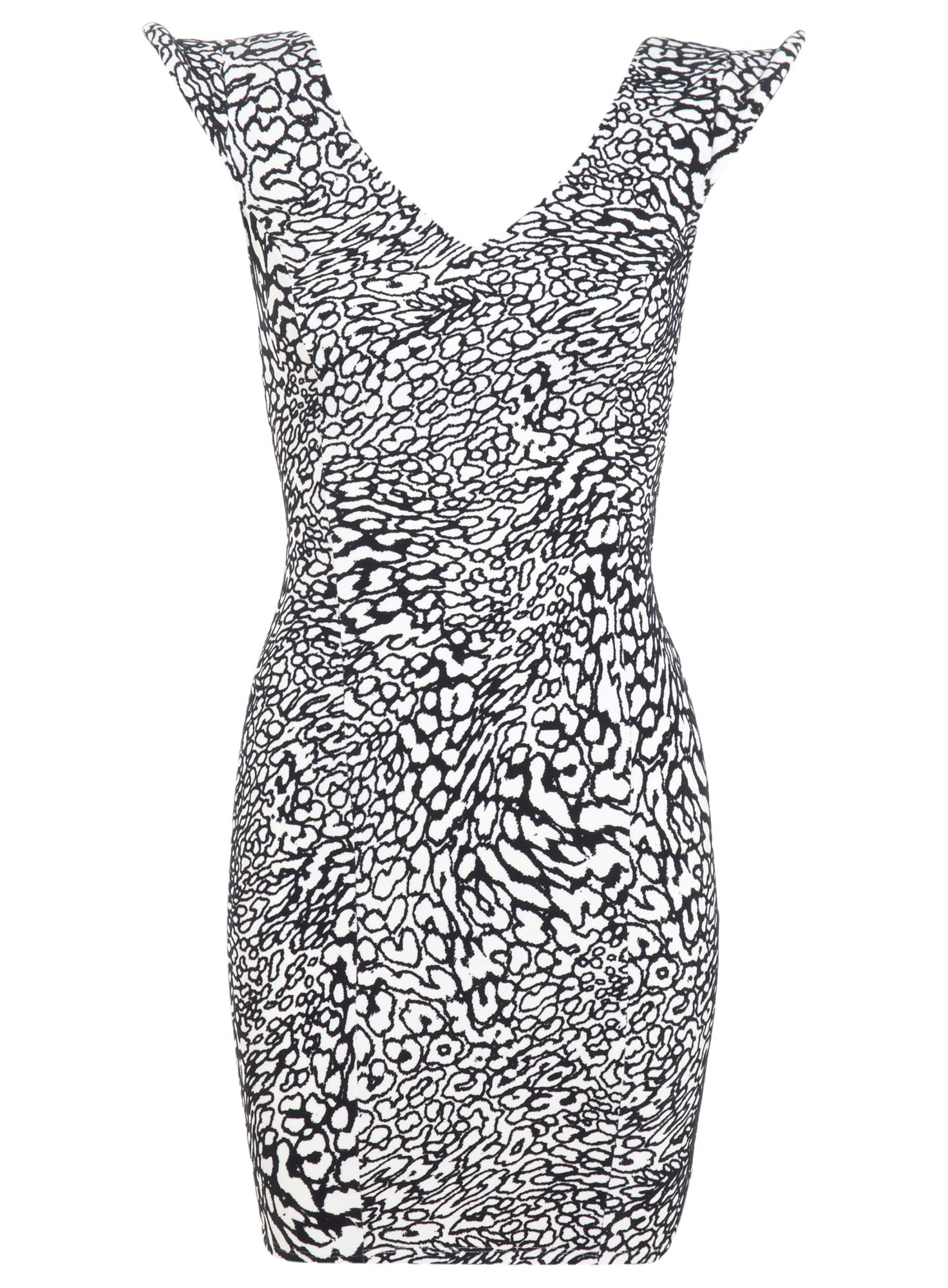 Petites flocked animal bodycon