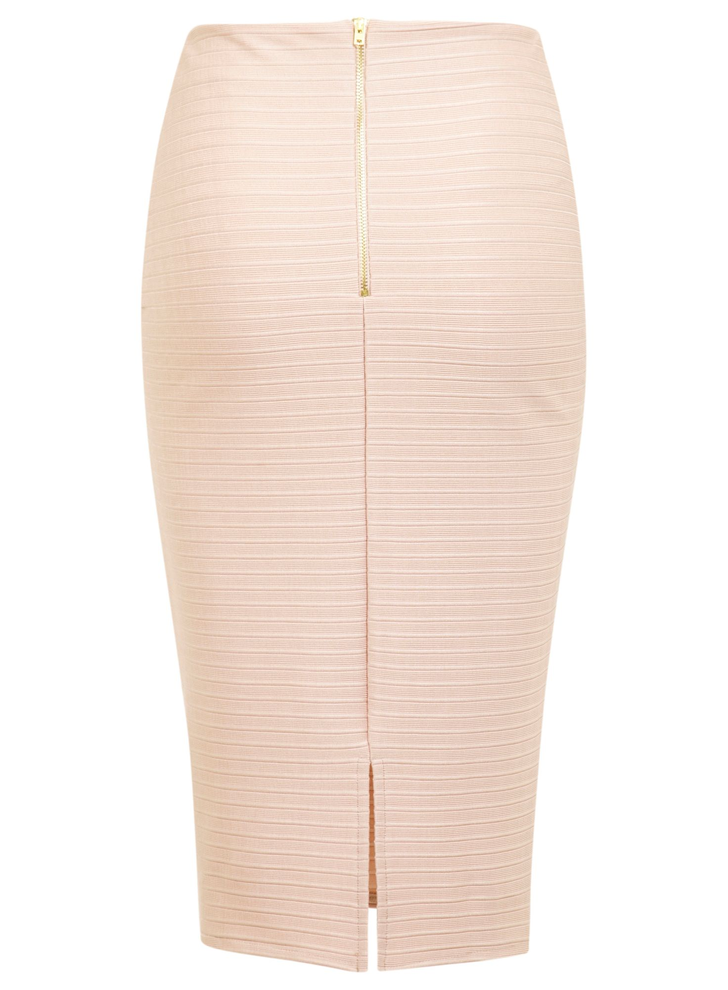 Nude bandage pencil skirt