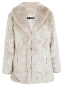 Shawl Collar Fur Coat