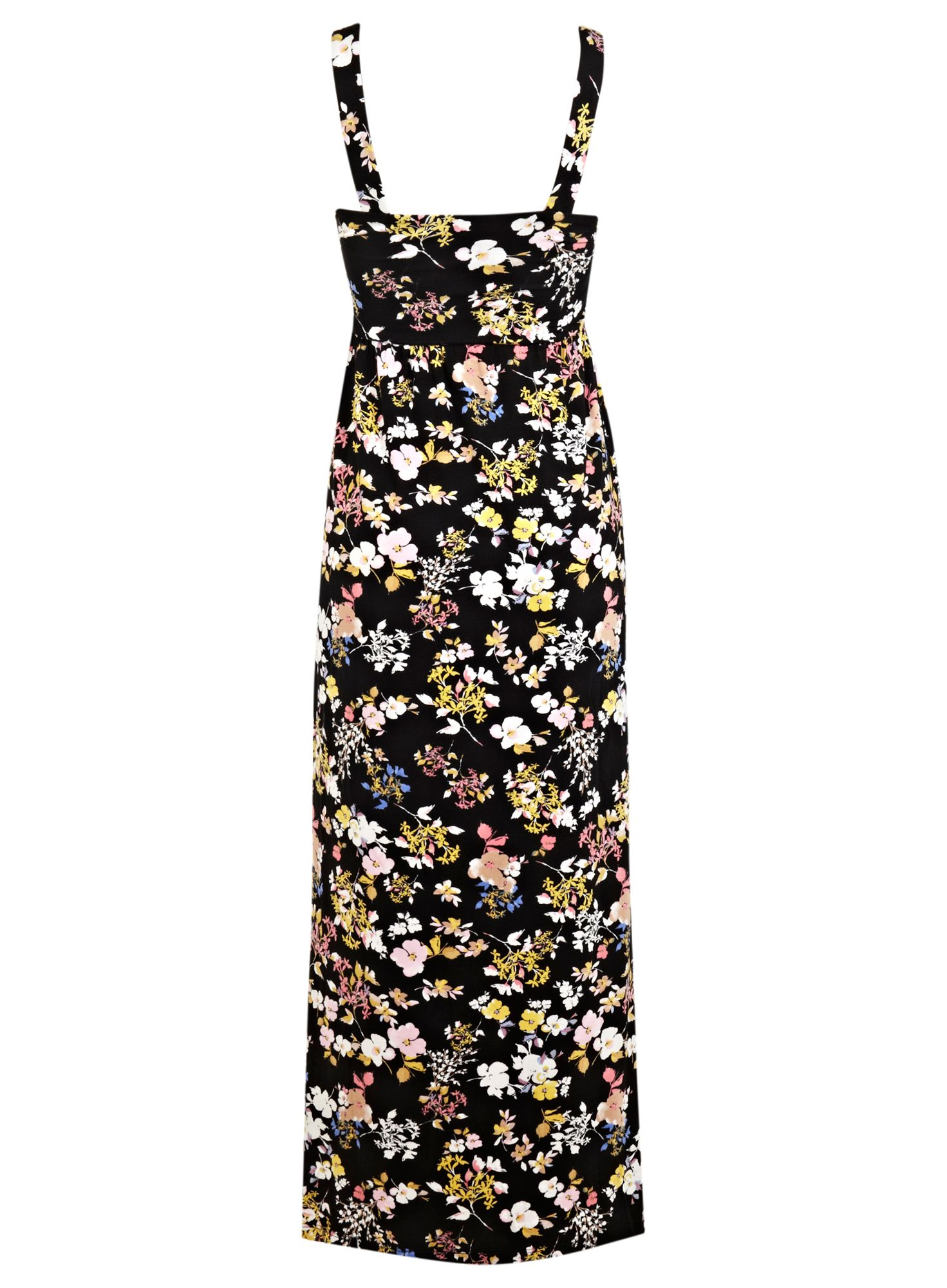 Petites dark floral maxi dress