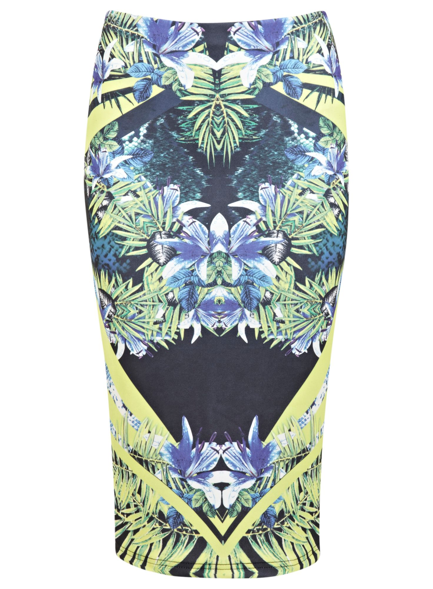 Tropical mirror print pencil