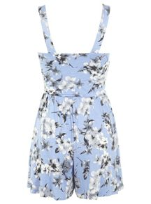 Floral pinny playsuit