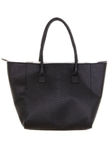 Snake Panel Winged Tote Bag