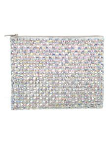 Iridescent Embellished Clutch