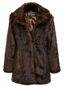 Slim Fit Faux Fur Coat