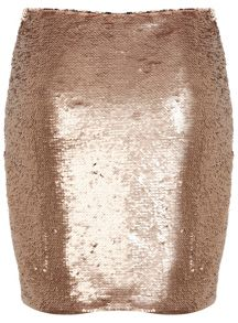 Petites Two Tone Sequin Skirt
