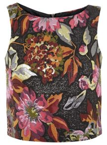 Floral Jacquard Shell Top