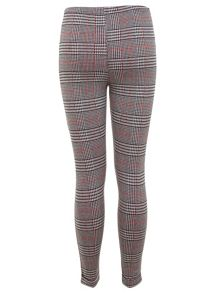 Red Check Tube Trouser