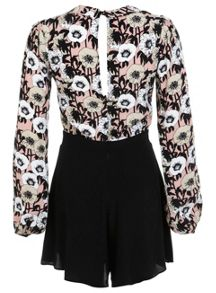 Pussybow Printed Playsuit