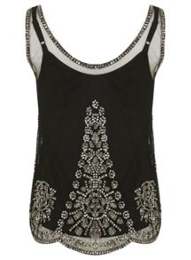 Embellished Vest Top