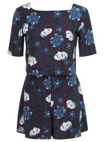 Floral Overlayer Playsuit