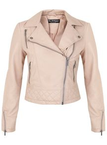Nude Molly Faux Leather Biker