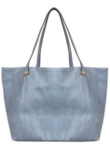 Blue Slouchy Shopper Bag