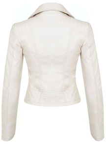 Bone Molly Faux Leather Biker