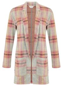 Brushed Check Duster Jacket
